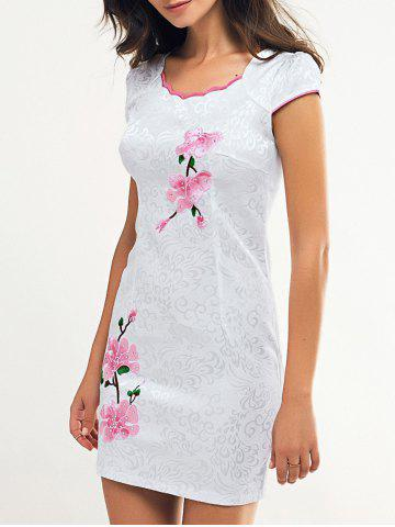 Best Wave Cut Embroidery Floral Cheongsam