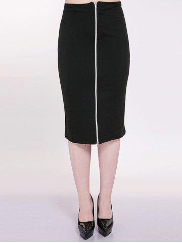 Online Plus Size Front Zip Pencil Skirt