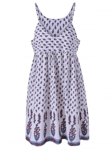 Outfits Stylish V-Neck Floral Print Spaghetti Strap Dress For Women