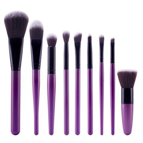 Fancy Stylish 9 Pcs Soft Nylon Face Eye Lip Makeup Brushes Set