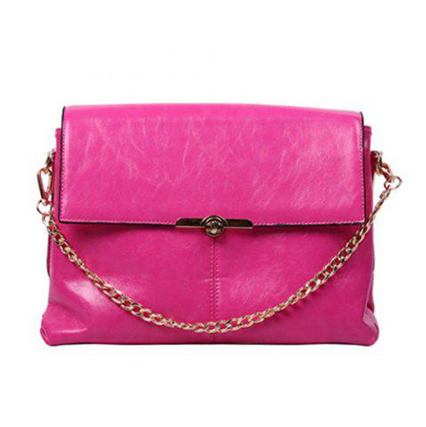 Cheap Chic Chain and Twist-Lock Design Shoulder Bag For Women