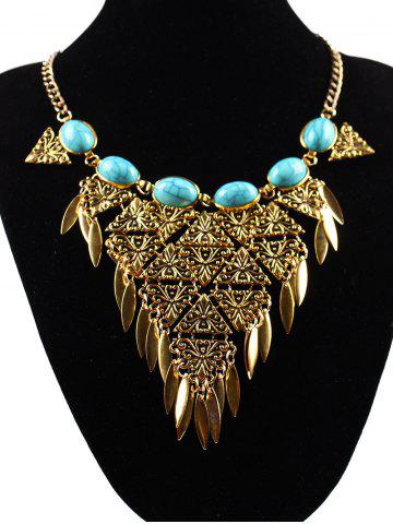 Discount Ethnic Triangle Necklace GOLDEN