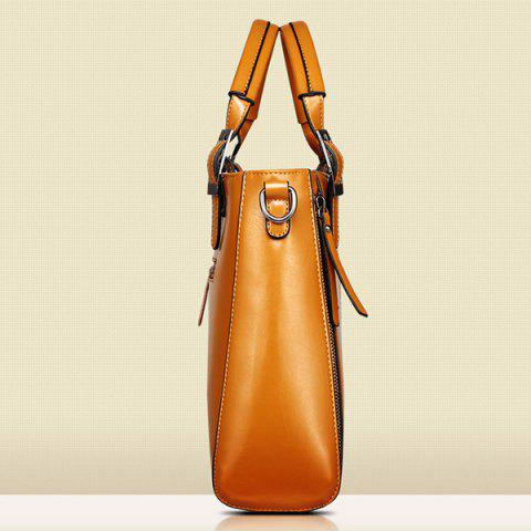 Fashion Fashionable Zippers and Buckles Design Tote Bag For Women - BLUE  Mobile