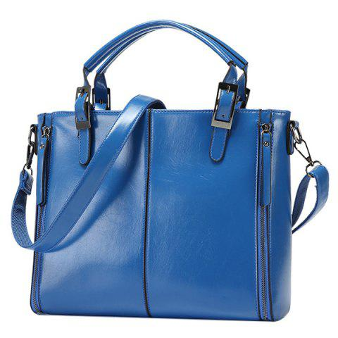 New Fashionable Zippers and Buckles Design Tote Bag For Women