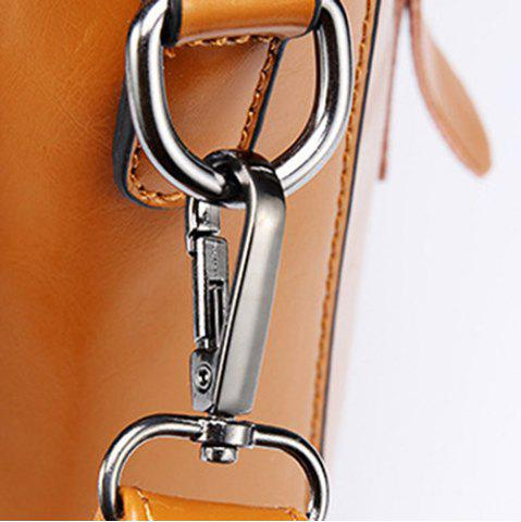 Latest Fashionable Zippers and Buckles Design Tote Bag For Women - BLUE  Mobile