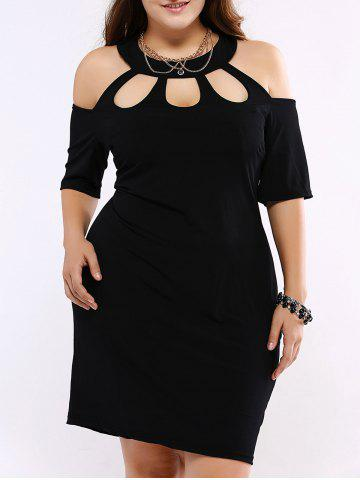 Outfit Plus Size Alluring Cut Out Black Sheath Dress