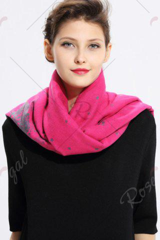 Best Printed Cashmere Scarf - WATER RED  Mobile