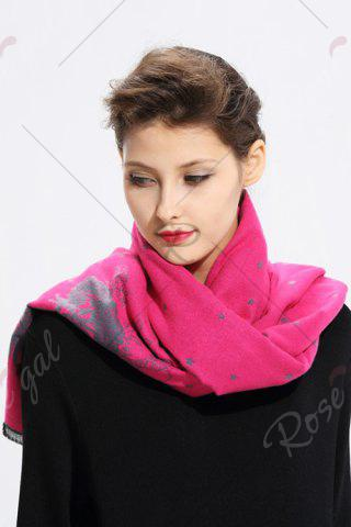 Latest Printed Cashmere Scarf - WATER RED  Mobile