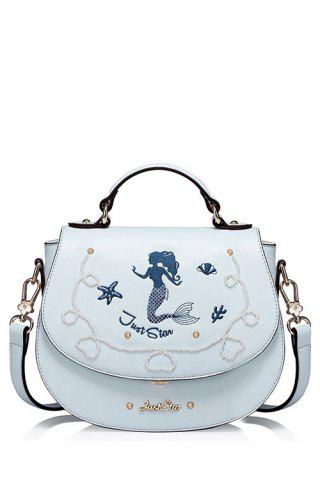 Online Mermaid Embroidered Crossbody Bag