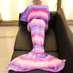Trendy Motif Chevron Mermaid Style Tail Sweet Pink Blanket douce - Rose Pâle