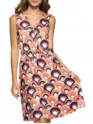 Colorful Sleeveless Printed Summer Dress For Women