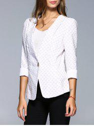 OL Style 3/4 Sleeve Jacquard Blazer For Women -