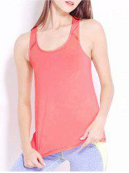 Simple Design Round Collar Sport Tank Top For Women