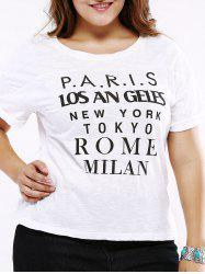 Plus Size Casual Cuffed Sleeve T-Shirt -