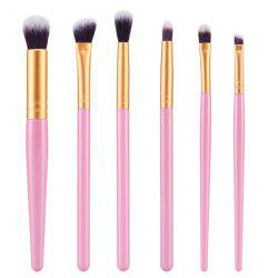 Élégant pinceaux de maquillage 6 Pcs Nylon visage Eye Lip Set - ROSE PÂLE