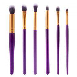 Stylish 6 Pcs Nylon Face Eye Lip Makeup Brushes Set