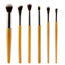 Stylish 6 Pcs Soft Nylon Face Eye Lip Makeup Brushes Set
