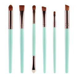 Stylish 6 Pcs Plastic Handle Nylon Eye Makeup Brushes Set
