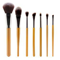 Stylish 7 Pcs Nylon Face Eye Makeup Brushes Set -