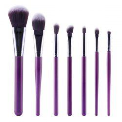 Stylish 7 Pcs Nylon Face Eye Makeup Brushes Set - PURPLE