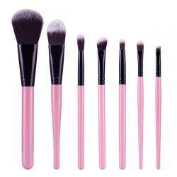 Stylish 7 Pcs Soft Nylon Face Eye Makeup Brushes Set