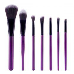 Stylish 7 Pcs Soft Nylon Face Eye Makeup Brushes Set - PURPLE