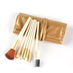 Stylish 7 Pcs Nylon Face Eye Lip Makeup Brushes Set with Brush Package