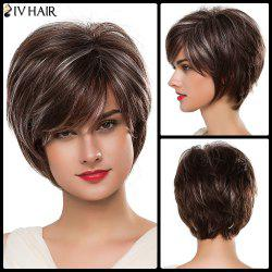 Siv Fluffy Short Side Bang Human Hair Wig