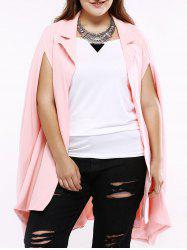 Plus Size Sweet Slit Sleeve Long Blazer