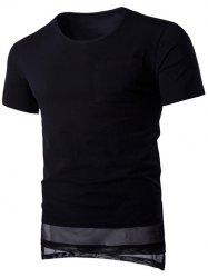 Brief Style Pure Color Pocket Short Sleeve T-Shirt For Men