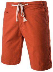 Fashion Faux-Pockets Design Drawstring Waistband Shorts For Men - SUGAR HONEY