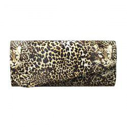 Fashionable Covered Closure and Leopard Printed Design Evening Bag For Women - COLORMIX