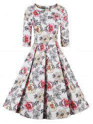 Floral Fit and Flare Swing Dress -