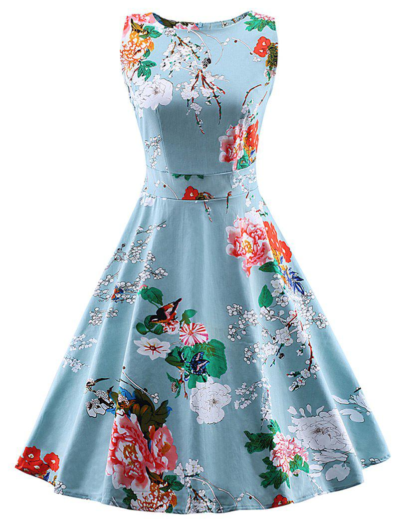 Vintage Flower Print Dress - Free Shipping, Discount and Cheap Sale ...
