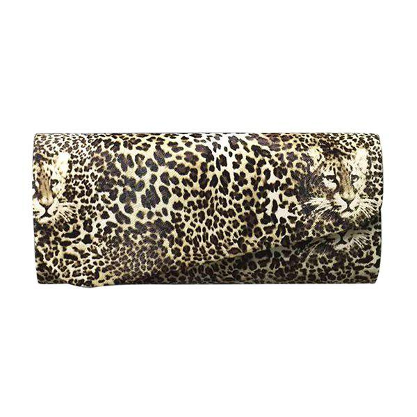 Discount Fashionable Covered Closure and Leopard Printed Design Evening Bag For Women