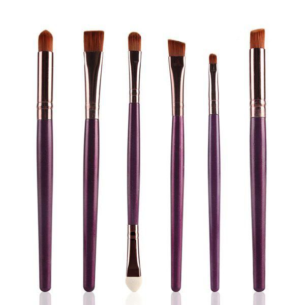 New Stylish 6 Pcs Plastic Handle Nylon Eye Makeup Brushes Set