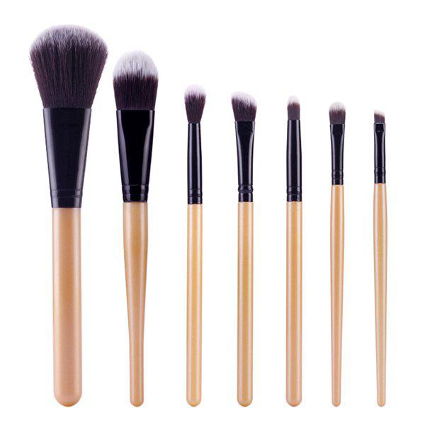 Chic Stylish 7 Pcs Soft Nylon Face Eye Makeup Brushes Set