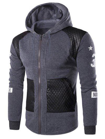 Trendy Casual Splicing Zipper Hoodie For Men