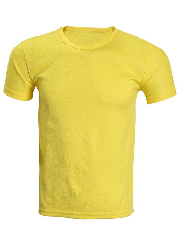 Cheap Solid Color Short Sleeve T-Shirt For Men