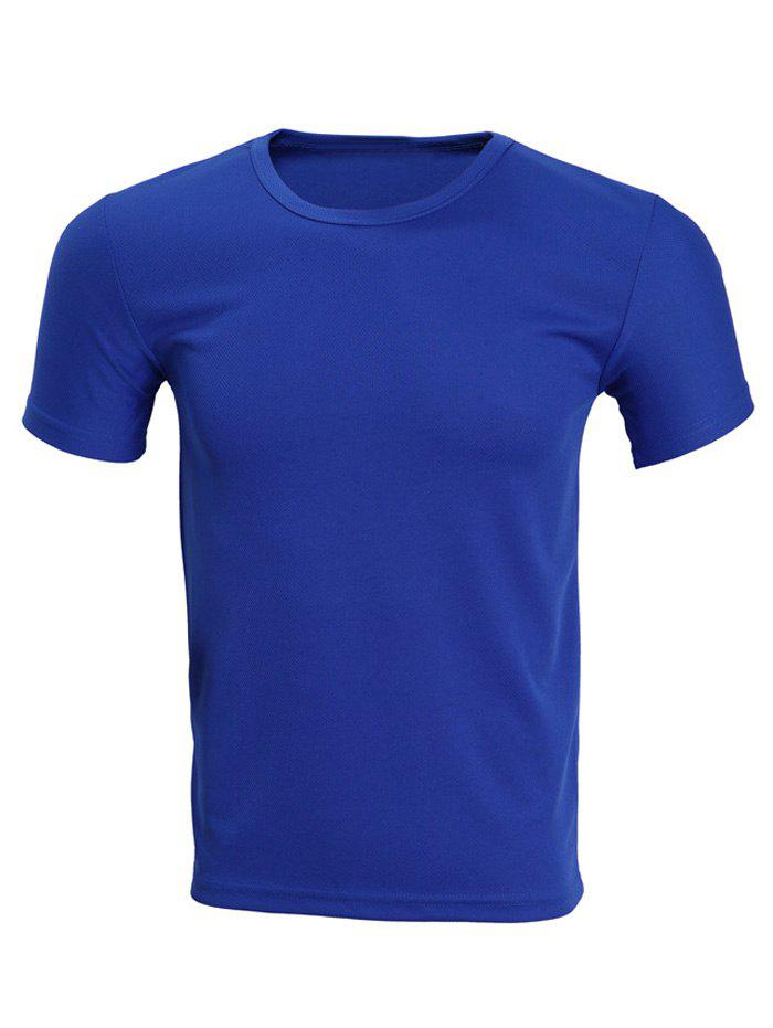 Online Solid Color Short Sleeve T-Shirt For Men