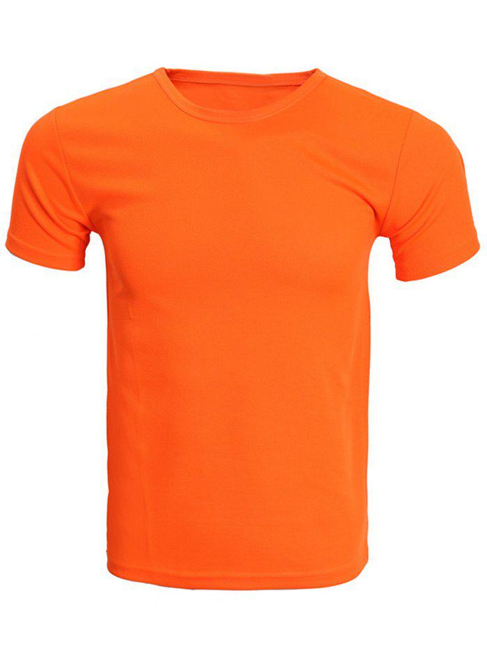 Shop Solid Color Short Sleeve T-Shirt For Men