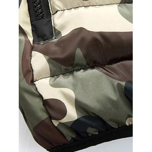 Camo Zip Up Double Sided Wear Hooded Padded Coat For Men -