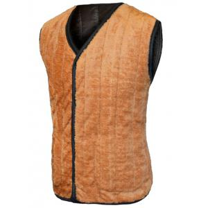 Plush Inside Pocket Button Up Collarless Vest For Men -