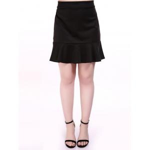 Plus Size Flounced Skirt