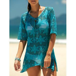 Crochet Embroidery See-Through Swimsuit Cover-Up