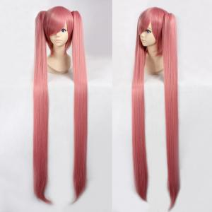Fashion Smoke Pink Synthetic Straight Long with Bunches Luka Hatsune Miku Cosplay Wig