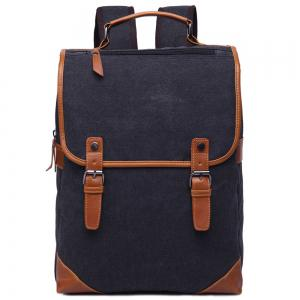 Stylish Color Block and Double Buckle Design Backpack For Men - Black