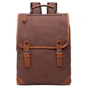 Stylish Color Block and Double Buckle Design Backpack For Men - Coffee - 40