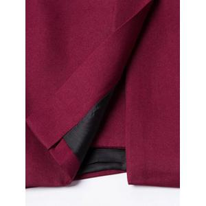 Casual Lapel Collar Double Breasted Flap-Pocket Design Blazer For Men - WINE RED 2XL