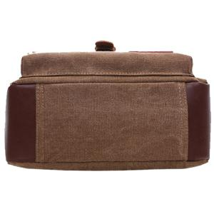 Concise Color Block and Buckle Design Messenger Bag For Men -